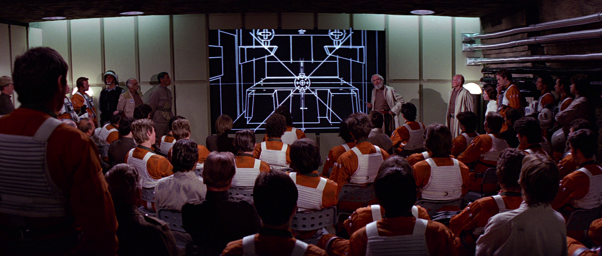 "The Rebel Alliance plans their attack against the Imperial battle station known as the ""Death Star"". (photo credit: Lucasfilm & Wikia)"